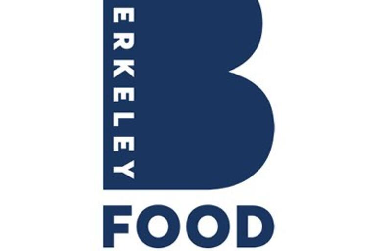 berkeley food institute logo with large blue B