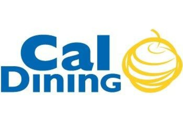 cal dining logo in blue and yellow