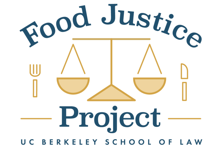 food justice project logo with weighting scales