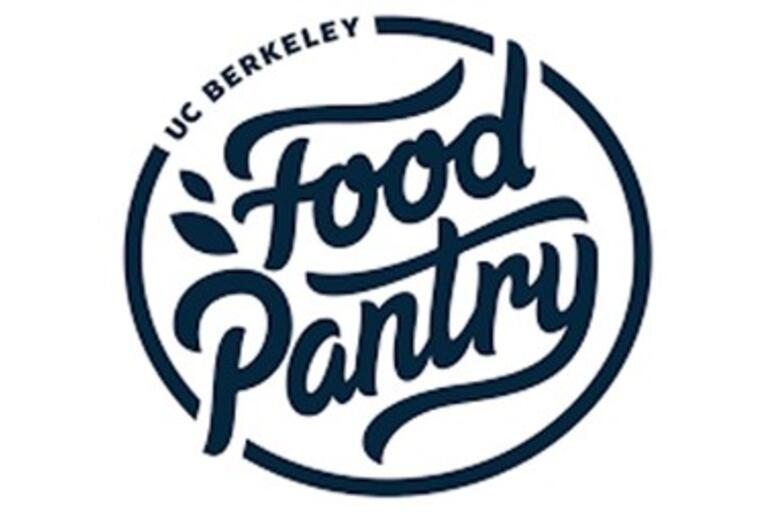 round food pantry logo with blue cursive writing