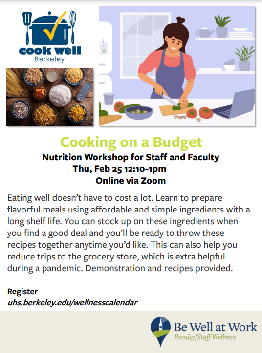 Cooking on a budget flyer